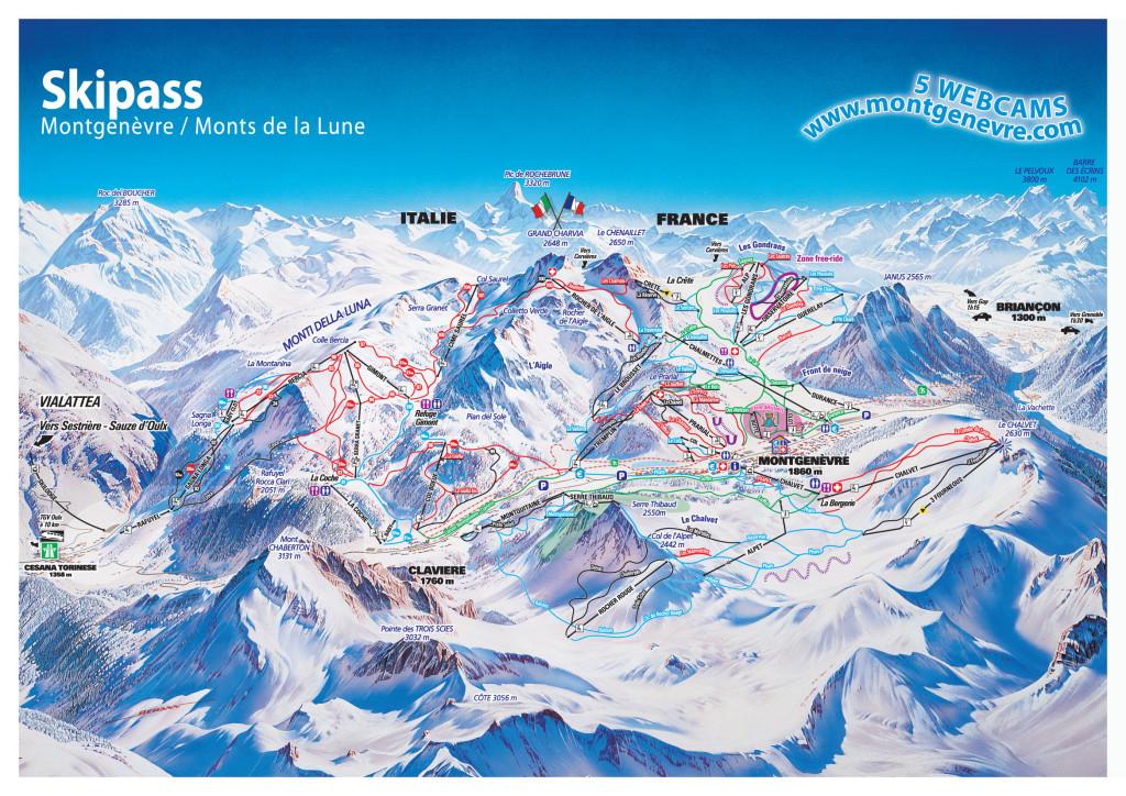 Montgenevre Piste Map