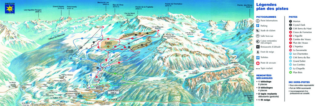 Sainte Foy Piste Map