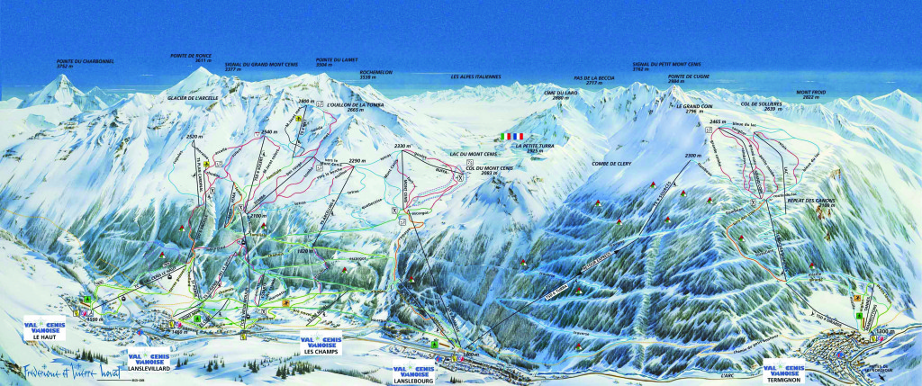 Val Cenis Piste Map