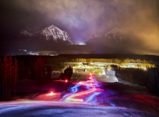 Lake louise torchlight party